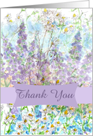 Thank You Wildflower Fairy Collage Chamomile Lupines card