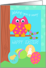 Easter Owl, Wishing You A Very Happy Easter!, Easter Eggs card