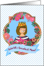 World's Greatest Mom! Blonde Mom With Crown, Mother's Day Queen card