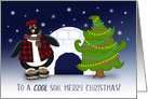 To A Cool Son, Merry Christmas, Penguin, Tree and Igloo card