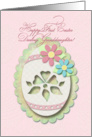 Happy First Easter Granddaughter, Decorative Paper Cut Out Lace Egg card