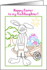 Goddaughter, Happy Easter Coloring Book Card, You Color card