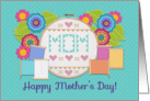 Mom, Happy Mother's Day! Embroidery Hoop, Sewing Notions, Flowers card