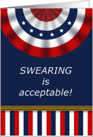 Inauguration Day in the United States Patriotic Banner Swearing In card
