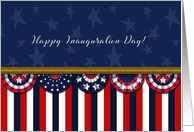 Happy Inauguration Day in the United States Patriotic Banner card
