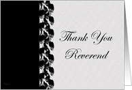 Thank You Reverend card