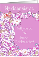 Sister, Will You Be My Junior Bridesmaid? card