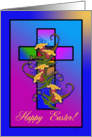 Happy Easter Cross card
