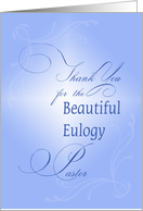 Thank You For The Eulogy Pastor, Religious, Cross of Light card