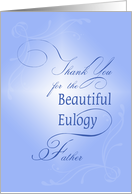 Thank You For The Eulogy Father, Priest, Religious, Cross of Light card