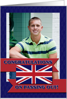 Congratulations On Passing Out! United Kingdom, Union Jack, Photocard card