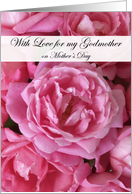 Pink Roses Mother's Day for Godmother card