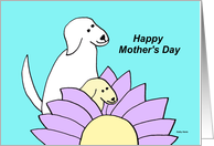 Mothers day from dog (Best Mom) card