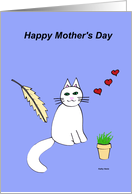 Mothers Day Card from Cat (Cat's Meow) card