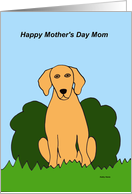 Mothers day Card from the Dog (Golden) card