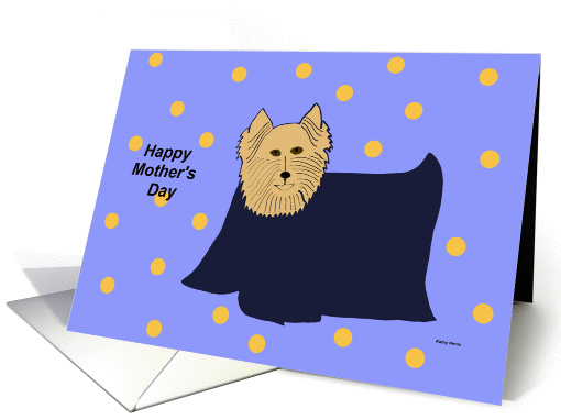 Mothers Day Card from the Dog -- Yorkie Love card (180448)