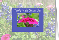 Bridal Shower Thank You -- Bluebonnets & Phlox card