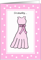 Junior Bridesmaid Card -- Sweet Dreams in Pink card
