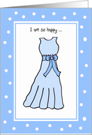 Bridesmaid Thank You -- Sweet Dreams in Blue card