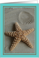 Starfish in the Sand -- Beach Note Card