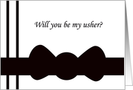 Usher Card -- Black Bow tie card