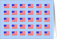 Labor Day Cards -- American Flag Card on Blue The American Dream card