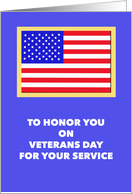 Veterans Day Cards -- American Flag card