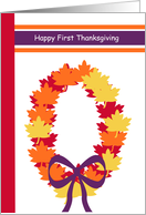 First Thanksgiving Together -- Fall Wreath card