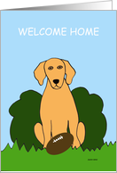 Welcome Home - Golden Retriever card