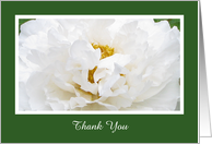 Blank Thank You Card -- Peony Flower card