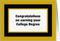 College Degree -- College Graduation Card