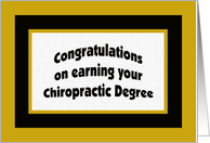 Chiropractic Degree Congratulation Card