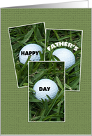 Happy Father's Day Card -- Golf Balls card