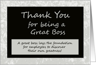Bosses Day Card -- Thank You for Being a Great Boss card