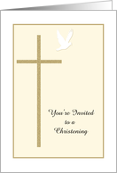 Christening Invite -- Cross and Dove card