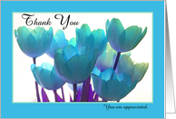 Administrative Professional Day Card -- You are appreciated Tulips card