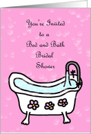 Pink Bubbles Bed and Bath Bridal Shower Invitation card