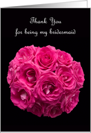 Bridesmaid Thank You Card -- Beautiful Pink Roses card