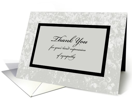 Sympathy Or Funeral Thank You Card  Classic Sympathy Thank You Card