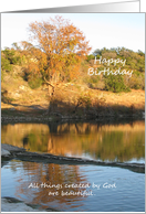 Christian Religious Birthday Greeting Card - River card