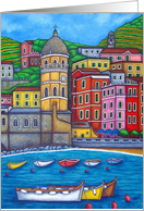 Colours of Vernazza, Cinque Terre Blank Greeting card