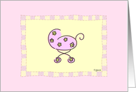 Pink Baby Buggy card