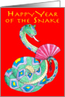 Happy Year of the Snake -Tet card