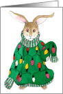 Ugly Christmas Sweater Bunny card