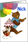 Bear & Bunny Birthday - Nick card