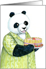 Birthday Panda Bear with Fancy Cake card