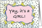 Congrats, It's a girl - Duckie card