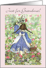 Grandparents Day, Just for Grandma! Flower Fields card
