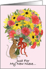 Niece Welcome Bouquet card