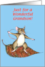 Thanksgiving Mouse, Grandson card